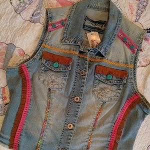 Southwest Hand Designed Vintage Denim Vest